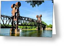 Prescott Lift Bridge Greeting Card by Kristin Elmquist