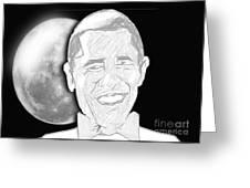 President  Barrack Obama Greeting Card by Belinda Threeths