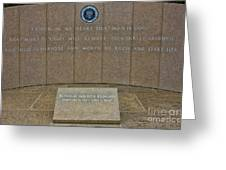 President Ronald Reagan Resting Place Greeting Card