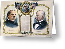 Presidential Campaign, 1892 Greeting Card