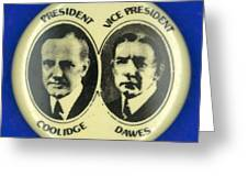 Presidential Campaign, 1924 Greeting Card