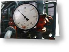 Pressure Dial, Natural Gas Industry Greeting Card