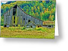 Prest Road Barn Hdr Greeting Card