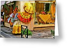 Pretty Shop In Provence Greeting Card