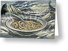 Primordial Soup Greeting Card by Bill Sanderson