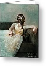 Princess In Gas Mask 2 Greeting Card