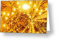 Printed Circuit Board, Artwork Greeting Card by Mehau Kulyk