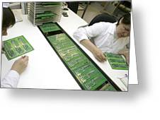 Printed Circuit Board Assembly Work Greeting Card
