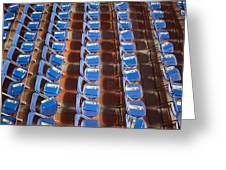 Programs On Rows Of Seating Greeting Card by Marlene Ford