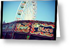 Prom Fairground Rides Greeting Card