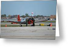 Propeller Plane Chicago Airplanes 09 Greeting Card