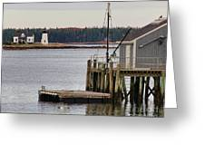 Prospect Harbor Lighthouse Greeting Card by Jack Schultz