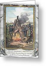 Protestant Martyrs, 1563 Greeting Card