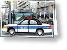 Proud Police Car In The City  Greeting Card