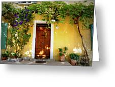 Provence Door Number 1 Greeting Card