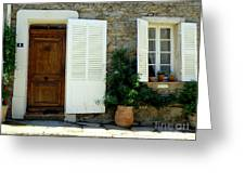 Provence Door Number 4 Greeting Card
