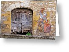 Provence Window And Wall Painting Greeting Card