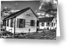 Provincetown Cottages Bw Greeting Card
