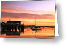 Provincetown Harbor Before Sunrise Greeting Card