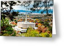 Provo Temple Pine Frame Greeting Card