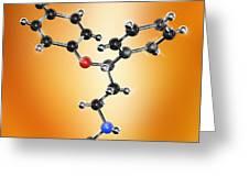 Prozac Antidepressant Molecule Greeting Card