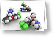 Prozac Molecules Greeting Card by Phantatomix
