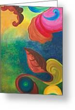 Psychadelic Dream Greeting Card by Derya  Aktas