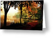 Psychedelic Autumn Greeting Card