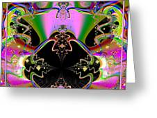 Psychedelic Blackhole Birthday Party Fractal 120 Greeting Card