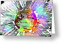 Psychedelic Daisy 2 Greeting Card