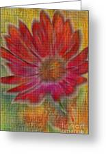 Psychedelic Flower Greeting Card