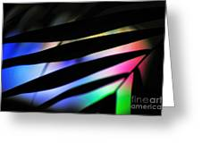Psychedelic Palm Abstract Greeting Card