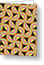Psychedelic Squares Greeting Card