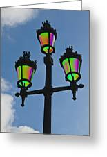 Psychedelic Streetlamps Greeting Card