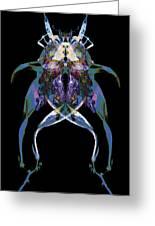 Psycho Frog Bug Greeting Card by David Kleinsasser