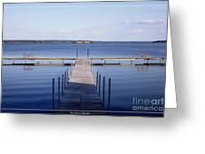 Public Dock On Chautauqua Lake Greeting Card