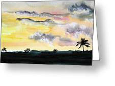 Puerto Rico Sunset Greeting Card