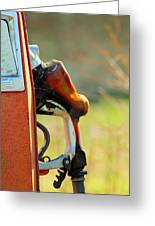 Pump From The Past Greeting Card