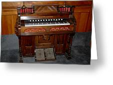 Pump Organ Greeting Card