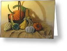 Pumpkin In A Basket Greeting Card