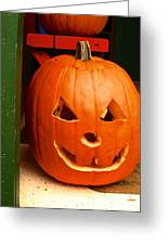 Pumpkin Man Greeting Card