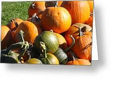 Pumpkin Pile  Greeting Card