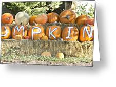 Pumpkins P U M P K I N S Greeting Card