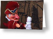 Punch And Judy Greeting Card