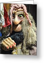 Puppet In Prague Greeting Card