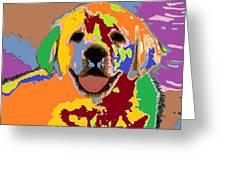 puppy Portrait 7 Greeting Card