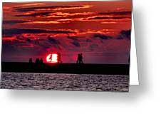 Pure Michigan Sunset Greeting Card