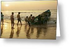 Puri Fishermen Greeting Card