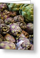 Purple Artichokes At The Market Greeting Card