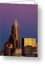 Purple Charlotte Skyline Greeting Card by Patrick Schneider